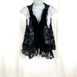 Rock Candy Lace Ruffle Vest M